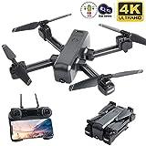 Flashbee F80 Drohne mit 4K-Kamera für Erwachsene,Follow Me,WiFi-FPV-Live-Video,Lange Flugzeit, Headless-Modus,große Reichweite,Faltbarer RC-Quadcopter für Anfänger und Profis