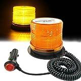 BIG Warnleuchte LED, Rundumleuchte Orange, 48 Rundumleuchte LED Magnet - EIS, Schnee, Frost und Wind Wetter, Eignet für die Meisten Fahrzeuge