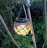 Solarleuchten Garten LED Glass Energieeffiziente Umweltfreundliche Wasserdicht für Außen / Landscape / Outdoor Zaun Hängende Stimmungslampe Sun Jar(IP44) [Energieklasse A+++]