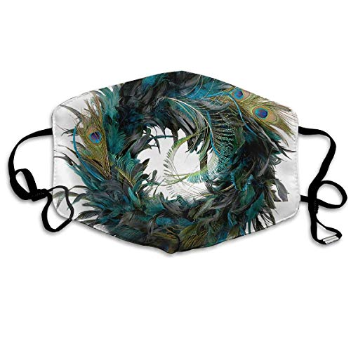 Masken, Masken für Erwachsene, Unisex Unique Mouth Mask, Peacock Feathers Creative Art Polyester Anti-dust Masks - Fashion Washed Reusable Face Mask for Outdoor ()