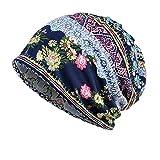 MORCHAN Nouveau Femmes Slouch Baggy Hiver Doux et Chaud en Tricot Crochet Hat(A,Bleu)