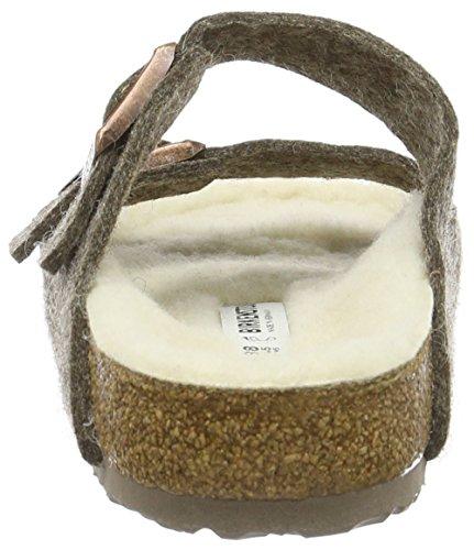 Birkenstock Arizona Lammfell, Mules Mixte Adulte Marron - Marron (Cacao)