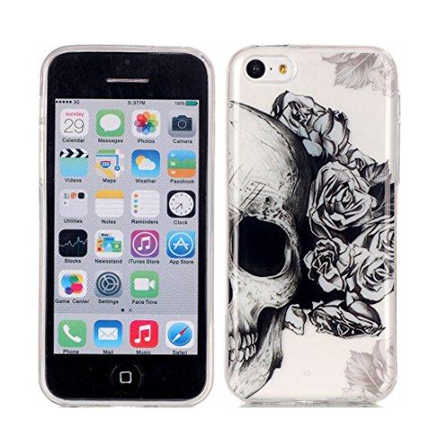 iPhone 5C Custodia,iPhone 5C Case,Patate piuma Custodia in TPU Gel Ultra sottile [Trasparente] Custodia protettiva in gomma flessibile case cover para for iPhone 5C colour 9