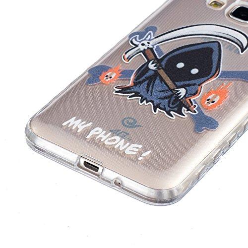 Custodia Samsung J3 2016, Cover Samsung J3 2016 Sunroyal® [Protezione goccia] [Antigraffio] TPU Gel Silicone Case Trasparente Cristallo Chiaro Skin Protettiva Shell Bumper Soft Morbido Ultra Sottile C Modello 02