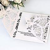 10 unids mariposa hueco tarjetas de invitación de boda tarjeta de papel para el matrimonio de compromiso fiesta de despedida de soltera de cumpleaños