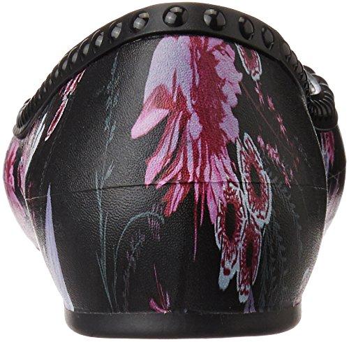 Crocs Lina Luxe Flat, Ballerine Donna Nero (Black/Plum)
