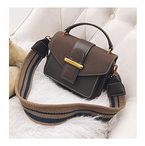 XUZISHAN Women's Bag Metall Square Handtasche Nähen Leitung Farbe Schleifen Leder Messenger Bag Fashion Einfachheit Crossbody Single Schultertasche, EIN - Designer-metall-leitung
