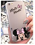 Coque iPhone 5/5S SE Minnie Disney effet miroir rose