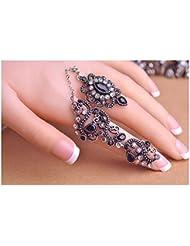 Vintage Ring mit schwarzem Stein