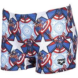 arena Marvel Jr Bañador Short, niños, (Captain), 14-5