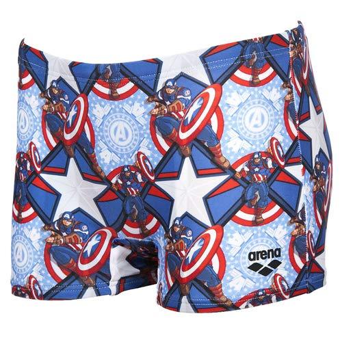 arena Marvel Jr Badehose Short, Kinder XL Mehrfarbig (Captain)