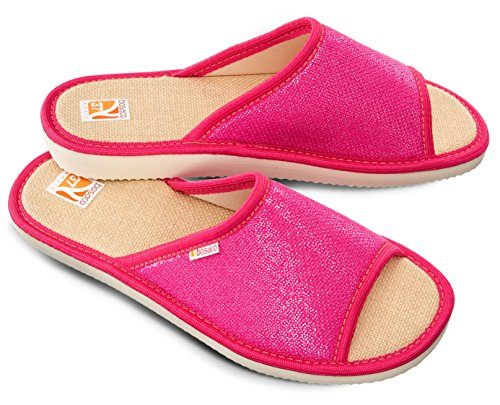 Bosaco Damen Hausschuhe Glantz Pink 1