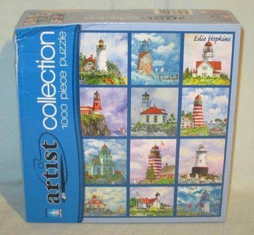 Empire Puzzle Maker Artist Collection Lighthouse Quilt Jigsaw Puzzle - 1000 Pieces (Package Wear) by Puzzle Makers