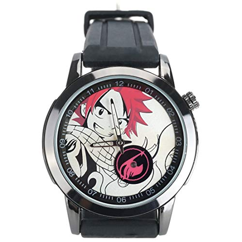CoolChange Fairy Tail Armbanduhr mit Natsu Dragonil Ziffernblatt und Logo ()