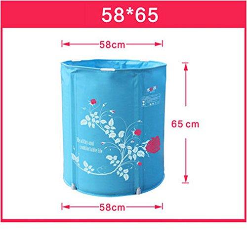 Falten Badewanne Wanne freie aufblasbare Badewanne dicke Kunststoff Badewanne ( größe : 58*65cm )