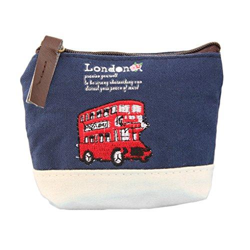Fragrant Monete Mini British Style tela borsa del portafoglio Chiavi Borsa con chiusura a cerniera (colore casuale)