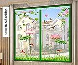 YOLE Anti-Moskito-Vorhang-Klettverschluss Magnet Fliegengitter Fenster Vorhang Insektenschutz Reißverschluss des Mittelblocks offen Der Vorhang ist Ideal für die Kinderzimmer,E,180 * 120cm/71 * 47in