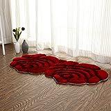 Lying 3D Dimensional Double Roses Ground Mat Hochzeit Zimmer Ground Mat Lovely Schlafzimmer Bett Boden Matte Xuan Guan Ground Mat find (Farbe : #2, größe : 80 * 160cm)