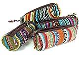 Guru-Shop Stifttasche Ethno, Herren/Damen, Mehrfarbig, Baumwolle, Size:One Size, 9x22 cm, Stifttaschen & Tabak Beutel