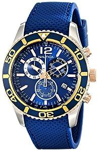 Nautica - Reloj de Pulsera para Hombre, Azul/Dorado (NAD16502G) de Nautica