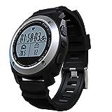 Bluetooth Smart Watch Rastreador de ejercicios Cámara remota Pantalla táctil impermeable Smartwatch para iOS y Android (plata) para los niños Pet