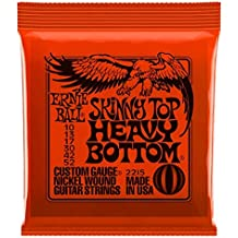 Ernie Ball: Skinny Top Heavy Bottom Guitar String Set. para Guitarra Electrica