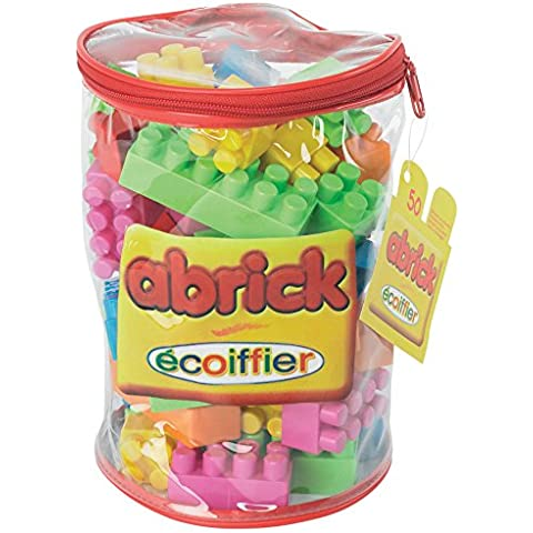 Ecoiffier - Saco de 50 piezas Abrick, de plástico (486.0)