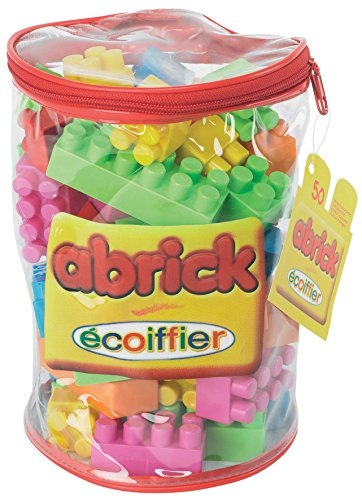 ecoiffier-construction-sac-tube-abrick-50-pieces