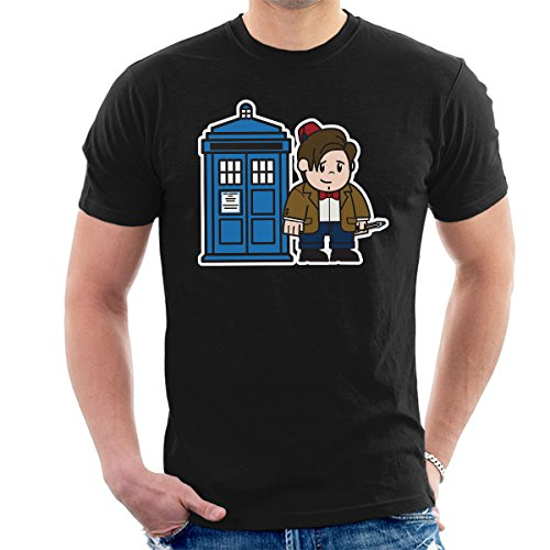 Mitesized Doctor Who 11th Matt Smith Tardis Men's T-Shirt Black