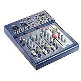 ammoon Audio Mixer Digitale Console di Missaggio USB a 3 Canali con Alimentazione 48 V per Registrazione DJ