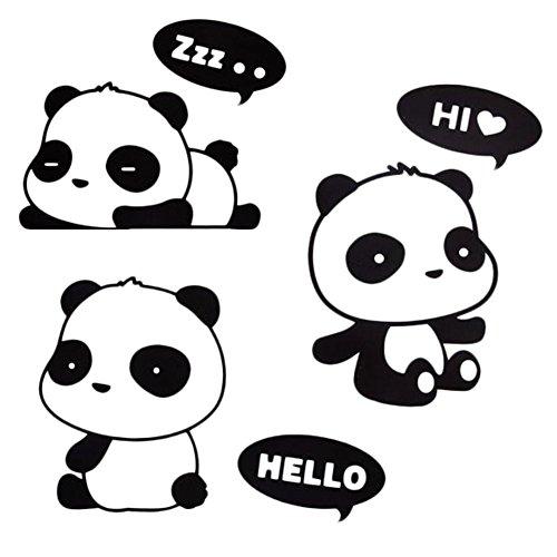 Cosanter Panda Wandaufkleber für über einen Lichtschalter Dekor Abziehbilder Kunstwand Baby Kinderzimmer