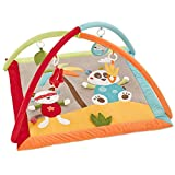 Fehn 067316 3-D-Activity-Decke Jungle Heroes, Spielbogen mit 4 abnehmbaren Spielzeugen für Babys Spiel & Spaß von Geburt an, Maße: 85x85 cm