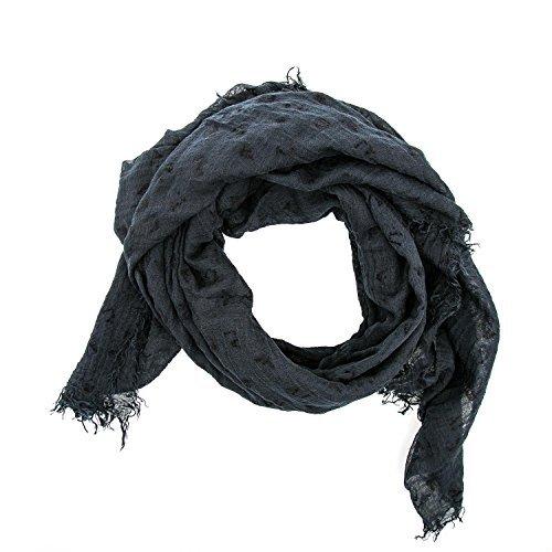 ARMANI JEANS - Sciarpa donna stampata 924068 cc043 blue scuro