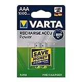 Varta 5703301402 - Accu HR03 Micro AAA Professional, 1000mAh, 2er-Packung