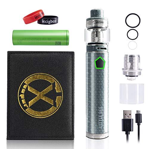 E-Zigaretten-Starter-Set 120W Vape Stick mit 5 ML Tank Mesh-Verdampfer 3000mah Batterie, kein Nikotin, keine Flüssigkeit (Silber)