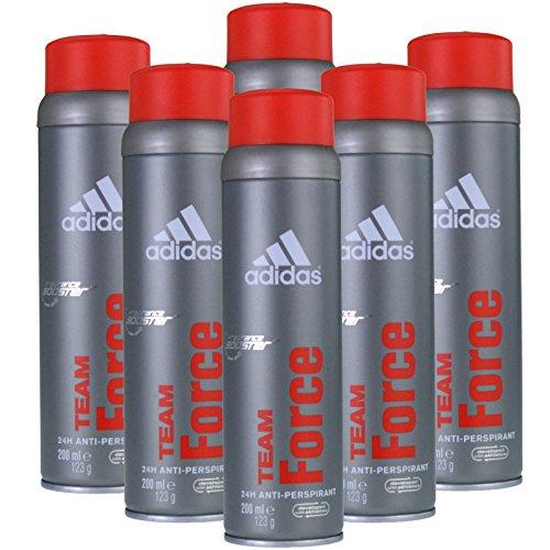 6 x 200ml Adidas Team Force Deospray