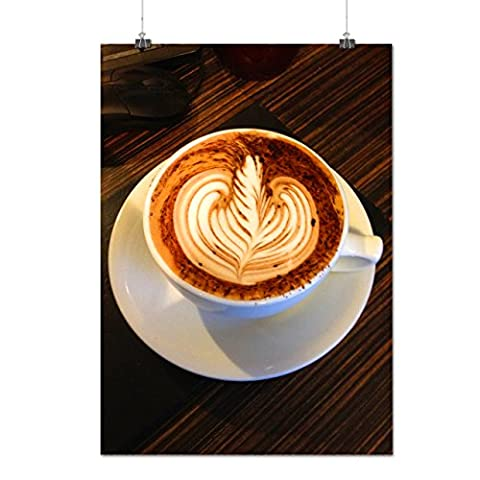 Coffee Cup Art Photo Food Lion Power Matte/Glossy Poster A3 (42cm x 30cm) | Wellcoda