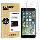 [3 Unidades] iPhone 8 / 7 / 6S / 6 Protector de Pantalla [3D Touch Compatibles], iVoler Protector de Pantalla de Vidrio Templado Cristal Protector para iPhone 8 / 7 / 6S / 6 4.7'' -Dureza de Grado 9H, Espesor 0,30 mm, 2.5D Round Edge-[Ultra-trasparente] [Anti-golpe] [Ajuste Perfecto] [No hay Burbujas]- Garantía Incondicional de 18 Meses