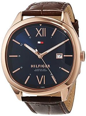 Tommy Hilfiger Reloj Analógico para Hombre de Cuarzo con Correa en Cuero 1710366