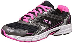 Fila Womens Xtent 4 Black and Pink Glow Running Shoes -4 UK/India (38 EU)