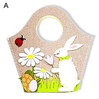 Specifiche: Coniglio, fiore e uovo di Pasqua, bella e bella. Questa borsa può contenere regali, caramelle, giocattoli, ecc. Realizzato in tessuto di alta qualità, resistente all'uso. Tipo: borsa pasquale. Materiale: tessuto. Caratteristiche: ...