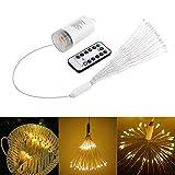Luci a sospensione per fuochi d'artificio, Konesky Christmas Pendant Light Dimmer Fairy Lamp con 8 modalità di telecomando 10m / 33ft (Warm White)
