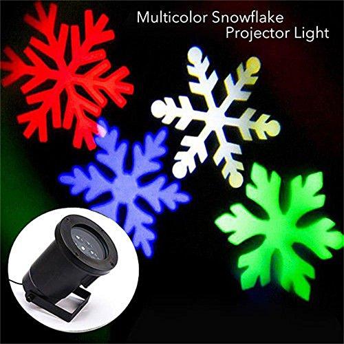 Paesaggio proiettore luci decorazioni, addobbi casa proiettore riflettori fiocco di neve lampada per matrimonio, festa, compleanno, decorazione della esterno & interno. (multicolore)