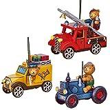 Hubrig Neuheit 2018 - Set 4 - Baumbehang Teddy - Feuerwehr Postauto Traktor