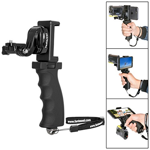 Sports Kamera Handheld Halterung Action Kamera Handgriff mit Handyhalter für Sony Handheld Griff Sony Selfie Stick Sony Kamera Support Holder für Sony FDR X-3000V AS 300,Kamera Handheld Halterung