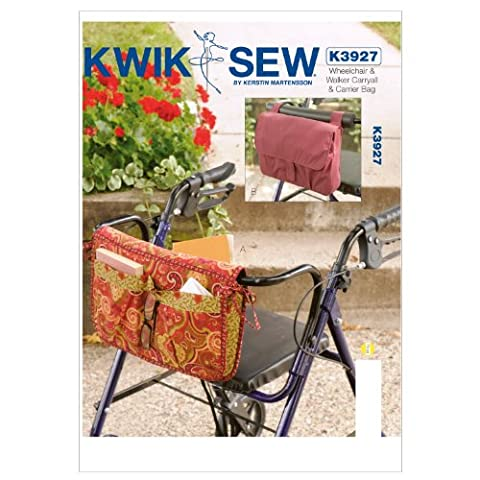 KWIK - SEW PATTERNS K3927 Wheelchair and Walker Carryall and Carrier Bag, Pack of 1, White