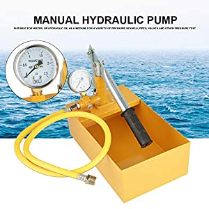 Bomba De Prueba De Presion De Agua,Bomba Comprobación,Bomba Hidráulica Manual De Aluminio,Adecuado Para Agua, O Aceite…