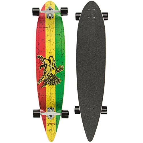 Ultrasport Carving Longboard/Skateboard für City- und Park-Cruising – Komplettboard, 110 cm, ideales Skateboard für Carving und Cruising – Downhill Longboard mit breiten Rollen, bis 100 kg, - Tape Grip Girl Skateboard