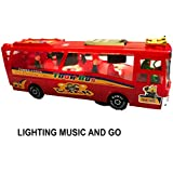 Musical Bus Toys For Kids, Bump'N Go Action Luxurious Travel Bus - Color May Be Very