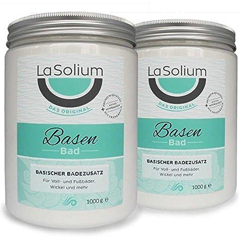 Basenbad von LaSolium – 2000 g – Vorteilspreis. Basischer Badezusatz mit weißer Mineralerde – Dermatologisch getestet. Basenpulver mit hochwertiger Tonerde aus Frankreich.
